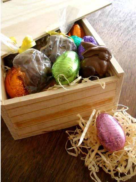 Small or Large Easter Wooden Box Treat your friends with Bohemein Easter